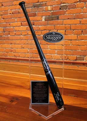 Jeter award for P72 retirement.  Jeter bat(photo courtesy Louisville Slugger)